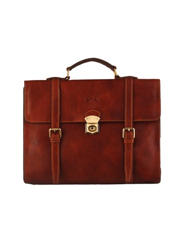 Florence Moon Leather briefcase